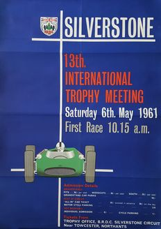 Original poster Internationale Formule 1 races Silverstone 6 May 1961, size 51 x 75 CM
