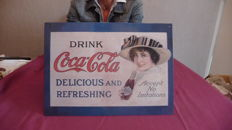 2 tin advertising posters for Coca Cola