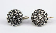 Patch earrings - Bridge and spring - With diamonds