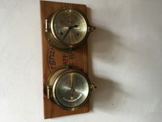 Ships Clock and Barometer - High quality set Simpson Laurence Glasgow - second half 20th century