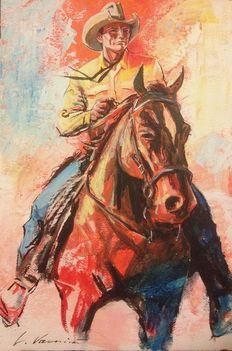 "Vannini, Luca - tempera ""Tribute to Tex"""