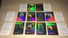 bionicle 2001 card sets 1st edition including rares!