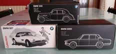 Minichamps - Scale 1/43 - Lot with 3 models: BMW 335 - 1939, BMW 507 - 1957 & BMW 2500 - 1968