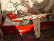 Vintage, metal model aircraft IL 62 from the Intercontinental airline -- former DDR,  early 1980s