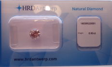 0.93 ct Fancy Intense Pinkish Brown Brilliant cut