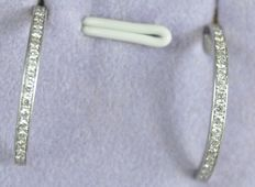 18 kt white gold half creole earrings