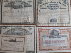 USA:   Marchants Exchange St. Louis 1882 + Chicago Live Stock Exchange 1896,  Transfer Card Brotherhood of Locomotive Engineers.   5 Items.
