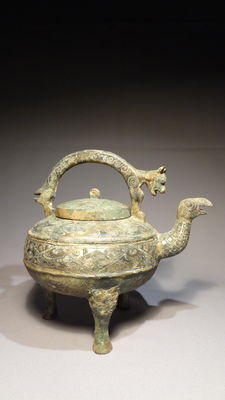 An archaic style tripod censer - China - late 20th century