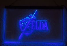 Neon Led Zelda billboard