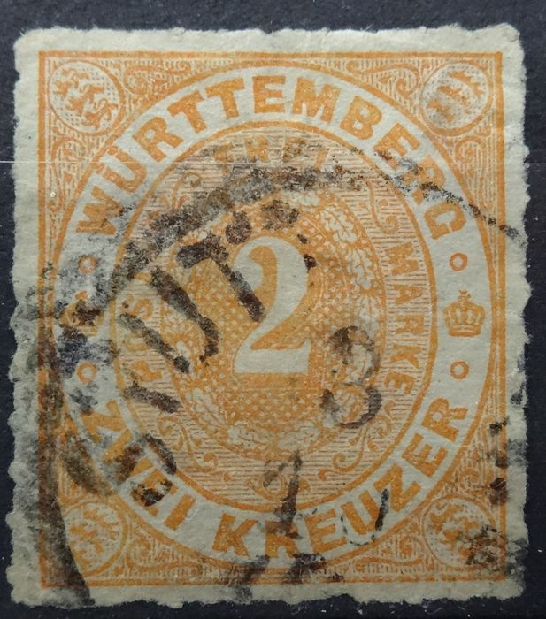 Württemberg 1869/1874 – Selection – Michel 36/41 and 43