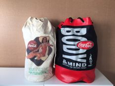 2 large Coca-Cola backpacks from 1996, issued in a limited edition.