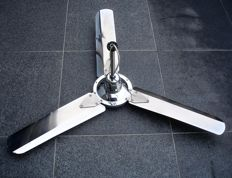 Chrome ceiling fan