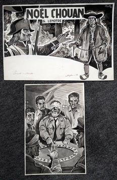 De Budt, Leo - 2 Original illustrations - Noel Chouan + Game - (1958)