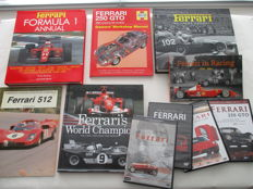 Ferrari - lot of 10 books and DVDs
