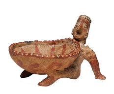 Jalisco Reclining Figure with Large Bowl - 20 cm