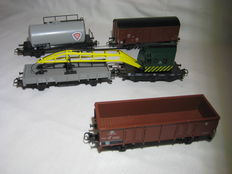 Märklin H0 - 5 Belgian freight carriages from the set - 29527 of the NMBS