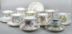 Royal Albert - 10 cups and saucers