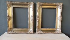 Two Gold plated Frames with beautiful ornaments - 30 x 40 cm - 21st century