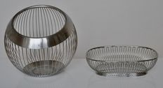 Metz & Kindler Product design for WMF/Alessi Technical Office - Large round fruit basket and oval bread basket