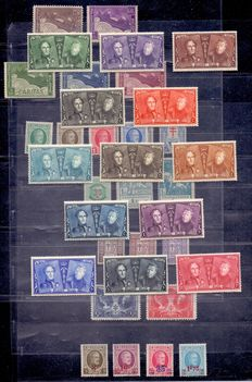Belgium 1925/1927 – Three full year sets including the Anniversary series – OBP 221 through 257