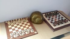 Real Madrid chess plus Adidas ball of Ninth European Cup - 2002