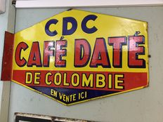 Emaille reclamebord CDC Cafe Date 1933
