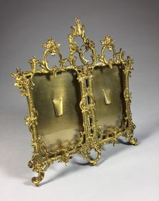 Double brass picture frame in Rococo style - France - ca. 1900