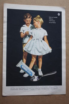 UHU line - advertising page - Germany - 1954