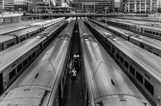 Paul Robert (1955-) - Penn Station, NYC, 2016