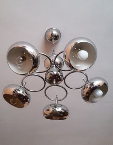 Unknown designer – Chrome-plated 5-arm lamp