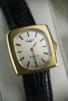 Longines Flagship –  18 kt yellow gold plated women's watch –  is not used, mint condition.