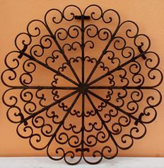 Large wrought iron trivet-ca 1960-Italy