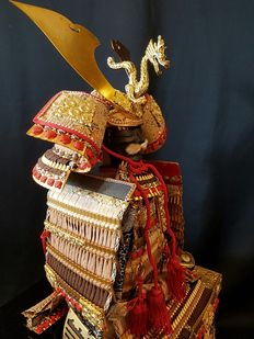 Japanese Samurai armour warrior doll – Japan – end 20th century