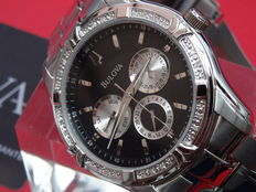 Bulova luxury men chrono diamond watch
