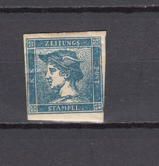 Lombardo-Venetian Kingdom, 1851 – Stamp for printed matter (newspapers) – Sassone no. 1 cm