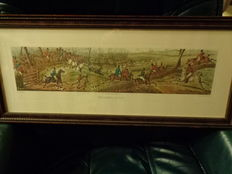 English hunting engravings 3 pieces