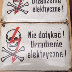 2 Polish dangers signs, from the 60s