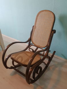 Thonet style rocking chair, first half 20th century