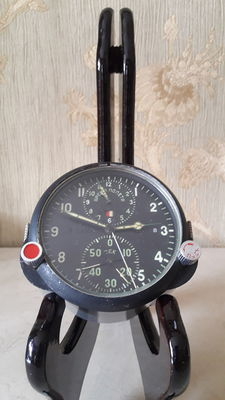 Poljot Chronograph - Original Russian ACS-1  military MIG aircraft watch, cockpit watch , chronograph USSR army 1960's .