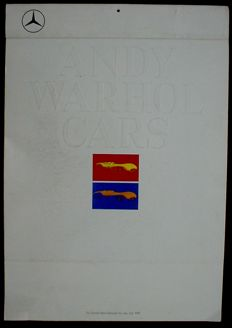 Andy Warhol Cars Art Calender Daimler Benz 1989 additional 1000 Mark Bond 1942