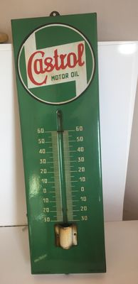 Thermometer enamelled plate CASTROL - 1947