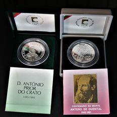 Portugal – 2 silver coins of 100 Escudos face value, in their own special case – 1991 and 1995 – Lisbon