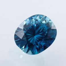 Blue Zircon - 6.55 ct