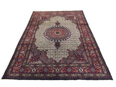 Fabulous hand-made Persian rug. Moud wool and silk - 295 x 220 cm ca. 1980!!!