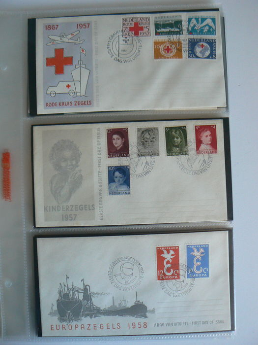 The Netherlands 1957/1963 – Selection of 22 First Day Covers, between NVPH E31 and E61.