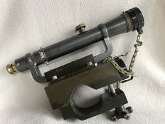 WW II German military optics - for artillery unit with telescopic sight setup and reticle