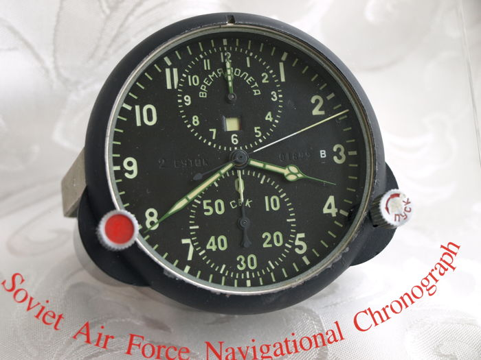 37b38e941fb The Soviet union - air force - Military Poljot chronograph watch from  fighter plane MIG