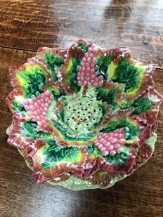 Faience grapes platter
