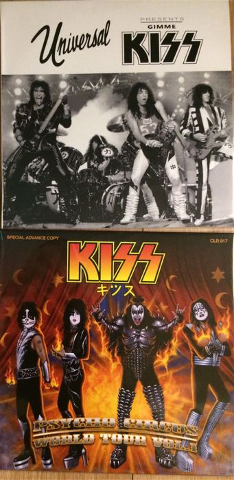 Kiss collectors' items || 2 LP's || Rare editions || Still in sealing || Coloured vinyl