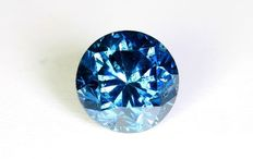 0.84 ct brilliant cut diamond Blue